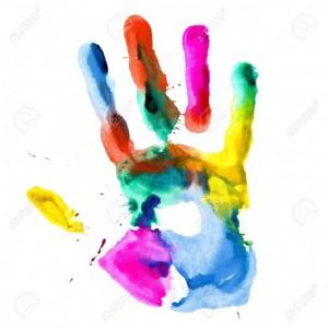 main colorée